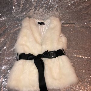 Other - White furry vest